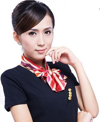 乐山职业装职业丝巾如何搭配